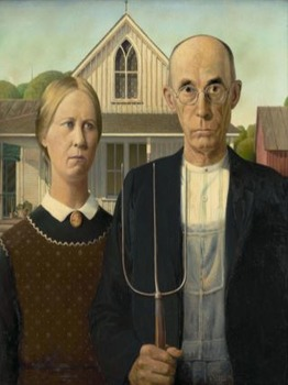 "The Great Depression - Recreating the ""American Gothic"" Painting"