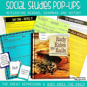 The Great Depression & Rudy Rides the Rails (Social Studies Pop-Ups)