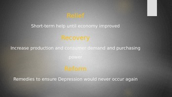The Great Depression STAAR EOC United States History Review Power Point