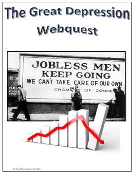 The Great Depression Social Studies Webquest Internet Activity