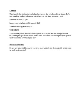The Great Depression Stock Speculation Worksheet