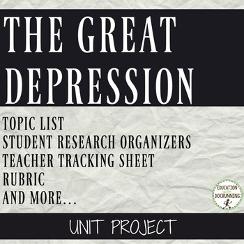 Great Depression Student-centered unit project