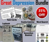 The Great Depression Task Cards and Activities Bundle