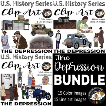 The Great Depression The 1930s Clip Art Bundle