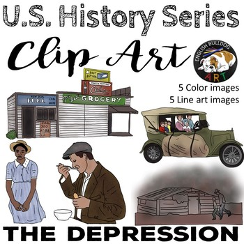 The Great Depression The 1930s Clip Art Set 1