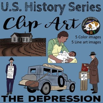 The Great Depression The 1930s Clip Art Set 2