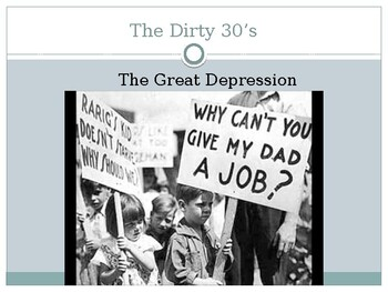 The Great Depression - The Dirty Thirties
