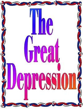 The Great Depression Unit Plan Bundle