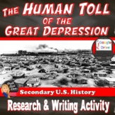 Great Depression | The Human Toll | WEB QUEST | DISTANCE LEARNING