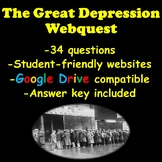 The Great Depression Webquest