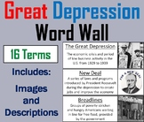 The Great Depression Word Wall Cards