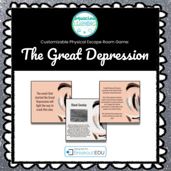 The Great Depression (World History) Breakout Game (Content Below)