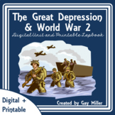 The Great Depression | World War 2 | Digital + Printable | Distance Learning