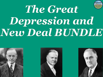 The Great Depression and New Deal BUNDLE