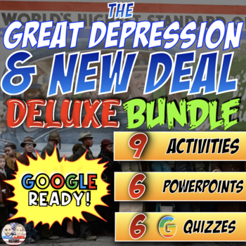 The Great Depression & New Deal Deluxe Bundle - PowerPoint Version (PC USERS)