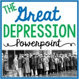 The Great Depression and New Deal PowerPoint with Guided Notes