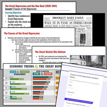 The Great Depression and the New Deal Lesson: Causes of ...