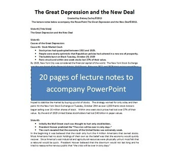 The Great Depression and the New Deal PowerPoint Bundle