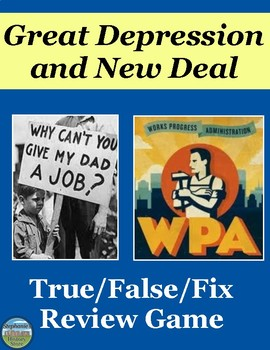 The Great Depression and the New Deal Review Game
