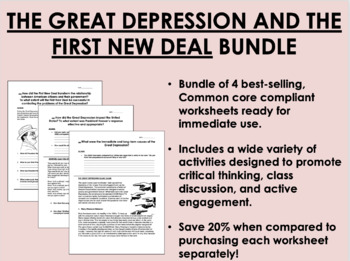 The Great Depression & the New Deal Bundle - US History/APUSH Common Core