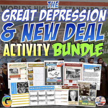 The Great Depression and the New Deal Unit Activity Bundle