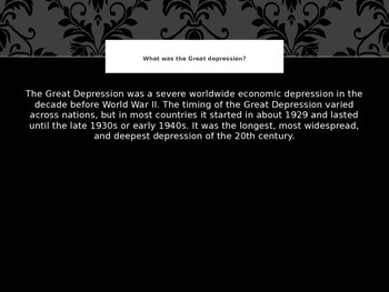 The Great Depression in Pictures PowerPoint