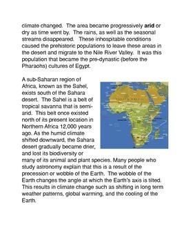 The Great Desert: The Sahara Common Core Activities