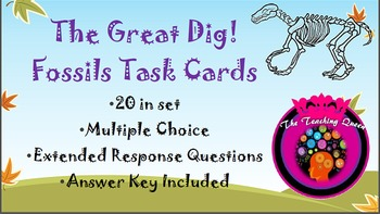 The Great Dig! Fossil Task Cards Set