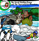 The Great Dividing Range and The Transantarctic Mountains clip art