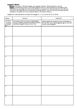 The Great Divorce Allusions/Capitalization Printable Worksheet