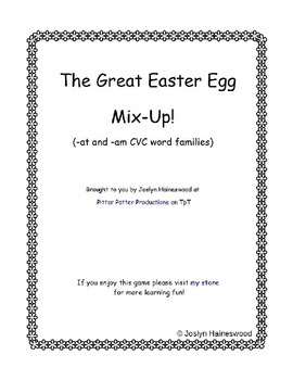 The Great Easter Egg Mixup! CVC Word Families