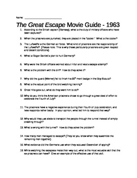 The Great Escape Movie Guide