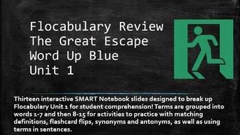 The Great Escape- Scaffolded Flocabulary Practice and Quiz Bundle