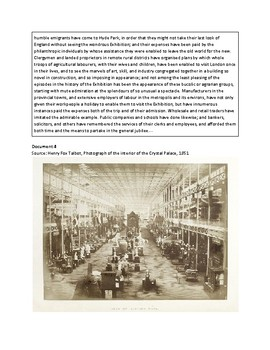 The Great Exhibition of 1851  (AP World - 2017-2018 Rubrics)