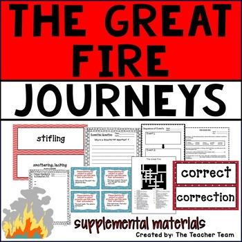 The Great Fire Journeys 6th Grade Unit 3 Lesson 11 Activities and Printables