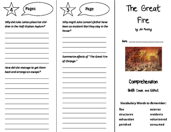 The Great Fire Trifold - California Treasures 6th Grade Unit 6 Week 5