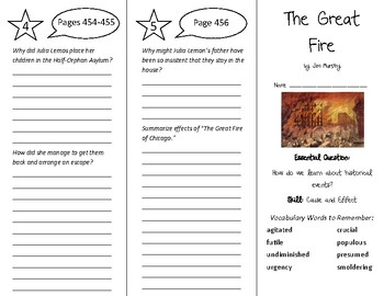 The Great Fire Trifold - Wonders 6th Grade Unit 6 Week 2