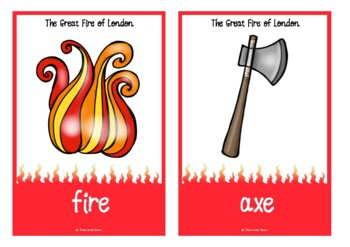 The Great Fire of London Picture Cards