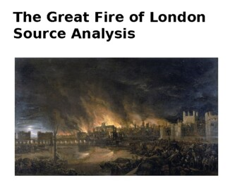 The Great Fire of London Source Analysis Activity