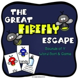 The Great Firefly Escape Game & Word Sort - Sounds of Y