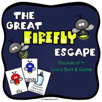 Vowel Sounds of Y - The Great Firefly Escape Game & Word Sort