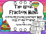The Great Fraction Scavenger Hunt for 3rd and 4th Grade with Word Problems