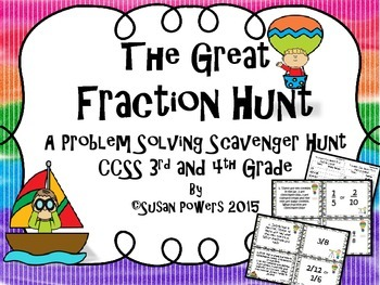 The Great Fraction Scavenger Hunt for 3rd and 4th Grade wi