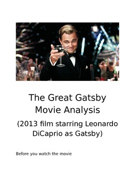 The Great Gatsby Movie Learning Guide - (2013 film)