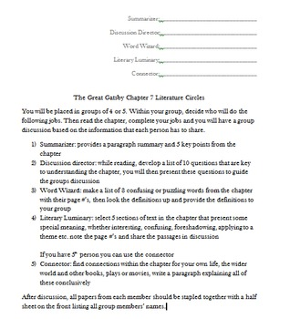 The Great Gatsby Activities