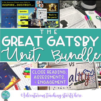 The Great Gatsby:  Activity, Lesson & Assessment GROWING Bundle