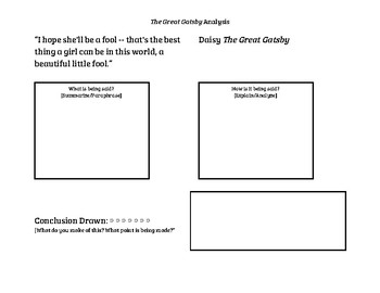 The Great Gatsby Analysis Frames