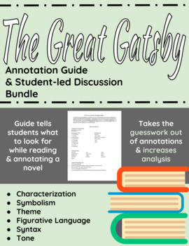 The Great Gatsby Annotation Guide and Student-led Discussion Bundle