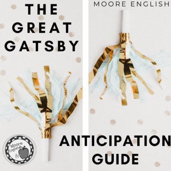 The Great Gatsby Anticipation Guide FREEBIE