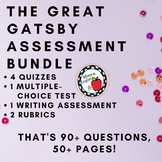 The Great Gatsby Assessment Bundle (4 quizzes, Multiple Ch